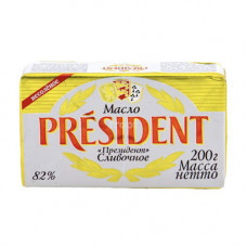 Сливочное масло President 82% (200гр)