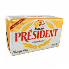 Сливочное масло President 82% (400гр)